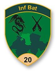 Badge Inf Bat 20
