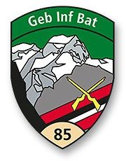Badge Inf Bat 85