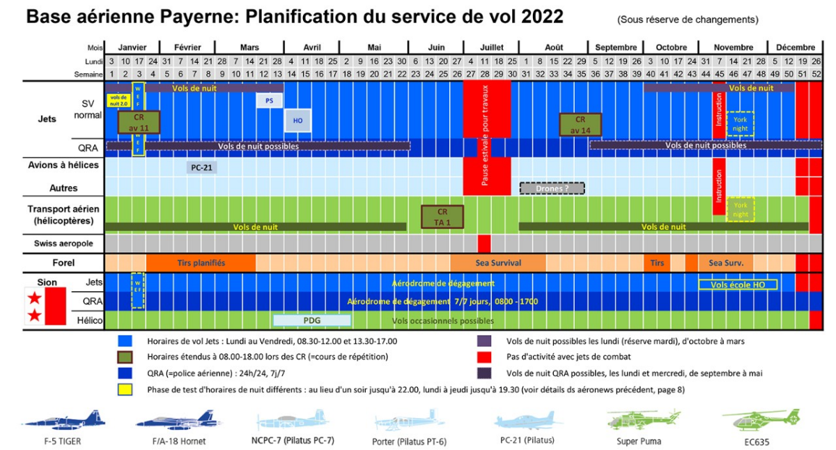 Planification service de vol 2019