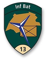 Badge Inf Bat 13